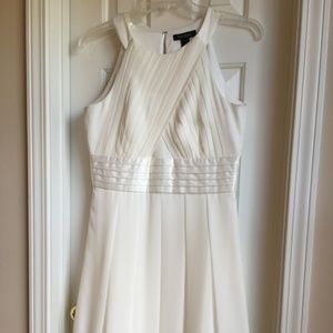WHBM Cream Grecian Cocktail Dress